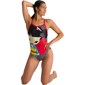 arena Crazy Kokeshi Lighttech Back Traje Baño Una Pieza Mujer, Multicolor
